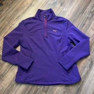 Puma Women's Soft Shell Half Zip Size Medium